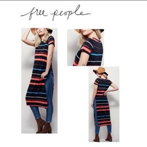 Free People Too Legit striped maxi dress Small